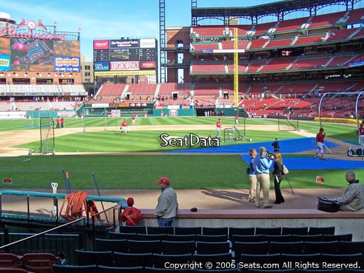 Seat view from section 8 at Busch Stadium, home of the St. Louis Cardinals