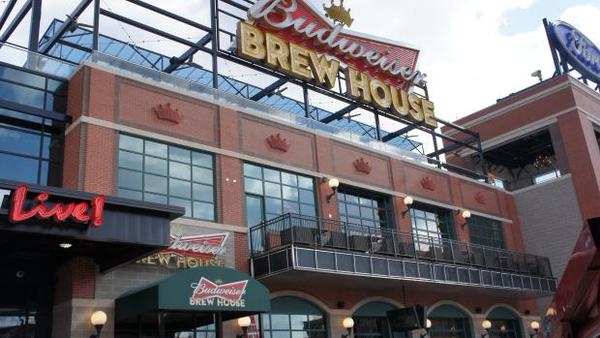 View of the Budweiser Brew House Deck at Ballpark Village