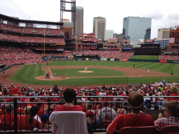 View from the Field Box seats at Busch Stadium