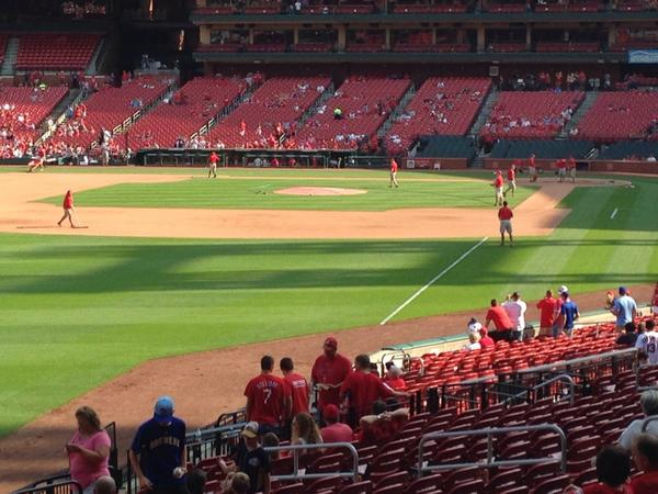 View from the Left Field Landing at Busch Stadium