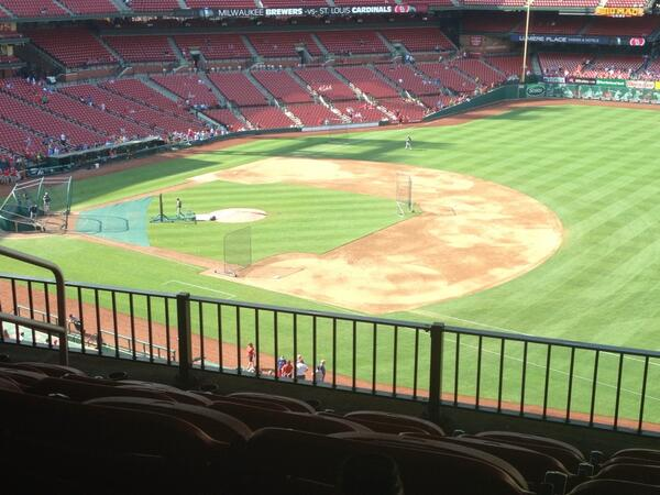 View from the Legends Club at Busch Stadium