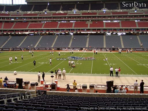 Seat view from section 106 at NRG Stadium, home of the Houston Texans