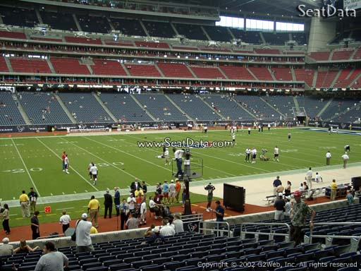 Seat view from section 109 at NRG Stadium, home of the Houston Texans