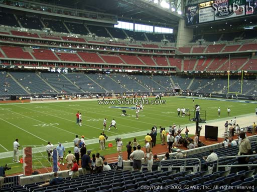 Seat view from section 110 at NRG Stadium, home of the Houston Texans