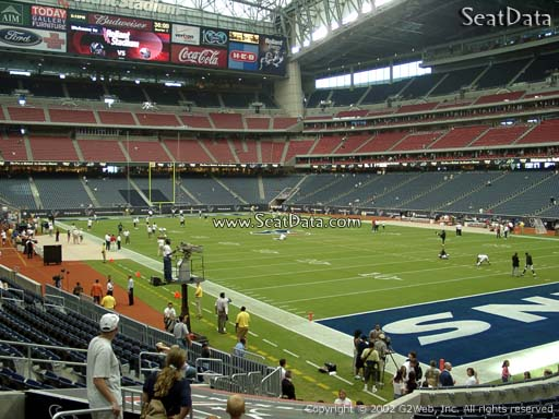 Seat view from section 140 at NRG Stadium, home of the Houston Texans