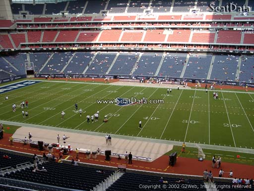 Seat view from section 308 at NRG Stadium, home of the Houston Texans