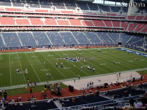 Seat view from section 312 at NRG Stadium, home of the Houston Texans