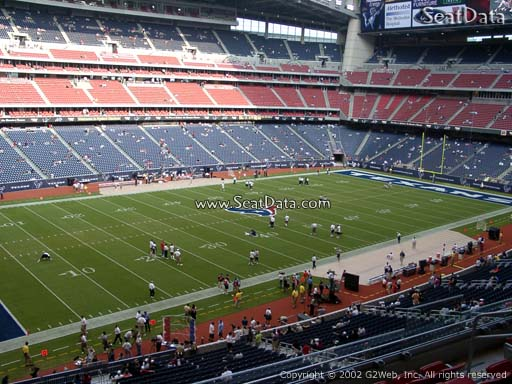 Seat view from section 314 at NRG Stadium, home of the Houston Texans