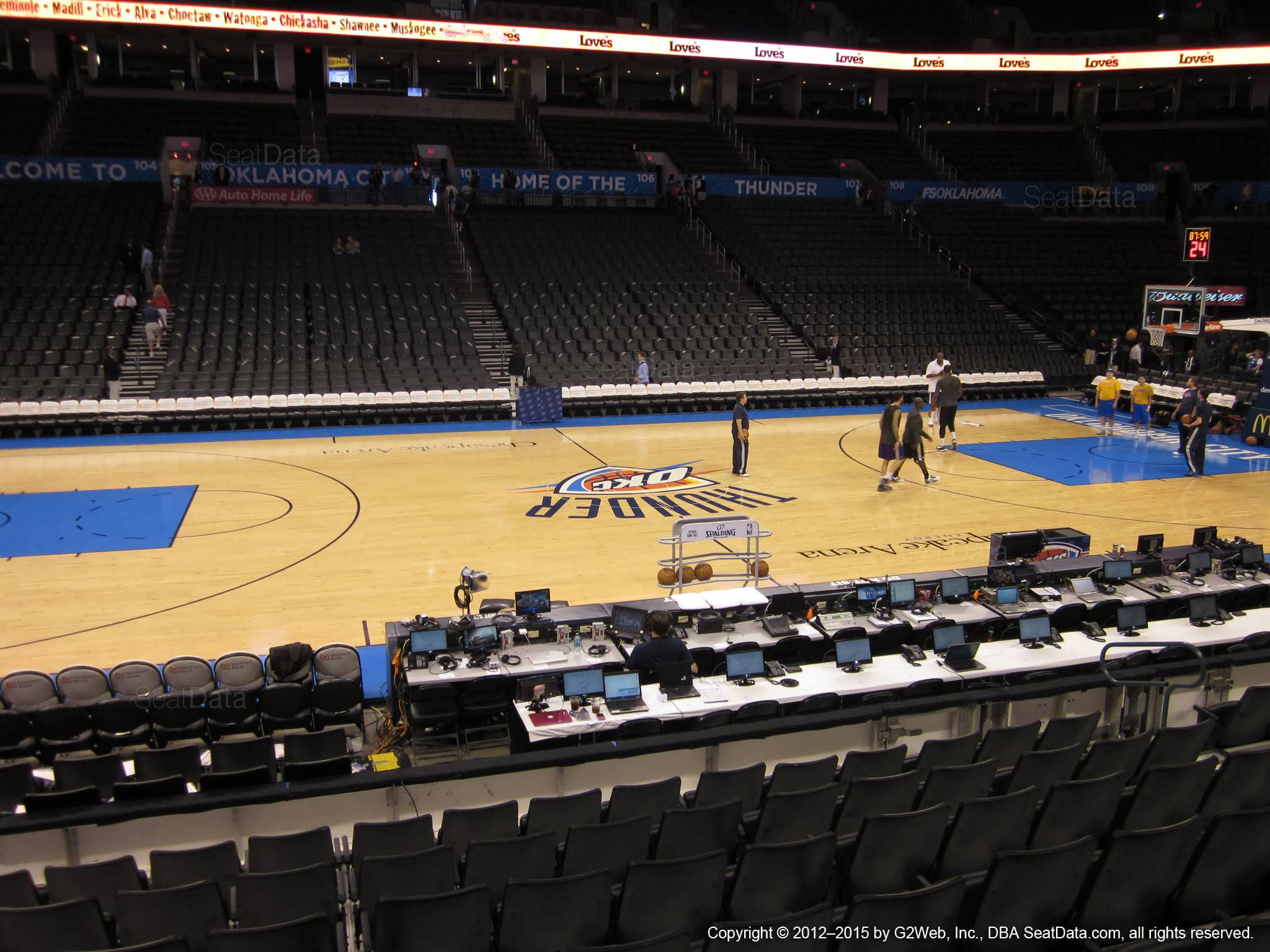 Seat view from section 116 at Chesapeake Energy Arena, home of the Oklahoma City Thunder