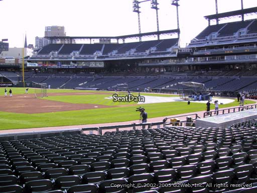 Seat view from section 137 at Comerica Park, home of the Detroit Tigers