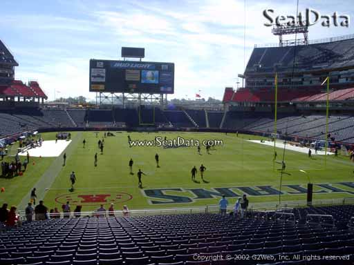 Seat view from section 102 at Nissan Stadium, home of the Tennessee Titans