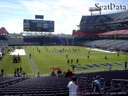 Seat view from section 103 at Nissan Stadium, home of the Tennessee Titans