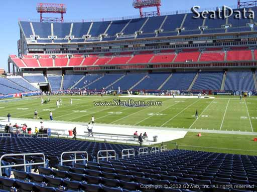 Seat view from section 134 at Nissan Stadium, home of the Tennessee Titans