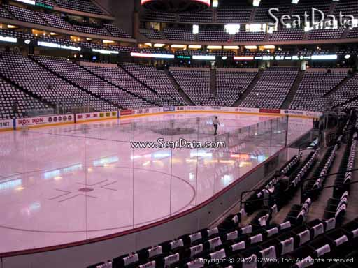 Seat view from section 120 at the Xcel Energy Center, home of the Minnesota Wild