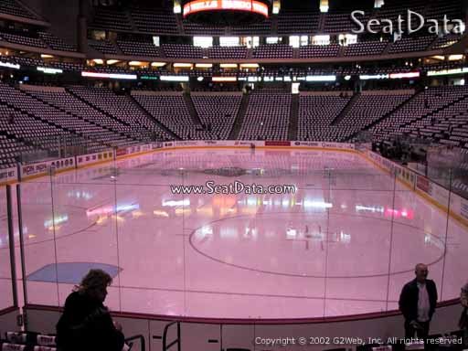 Seat view from section 122 at the Xcel Energy Center, home of the Minnesota Wild