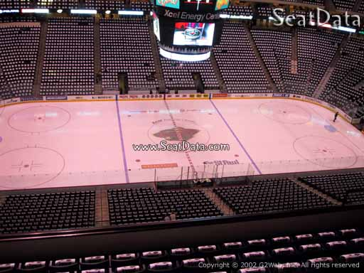 Seat view from section 205 at the Xcel Energy Center, home of the Minnesota Wild