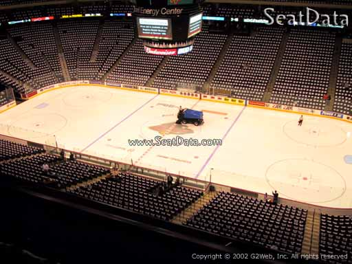 Seat view from section 217 at the Xcel Energy Center, home of the Minnesota Wild