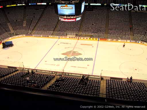 Seat view from section 218 at the Xcel Energy Center, home of the Minnesota Wild