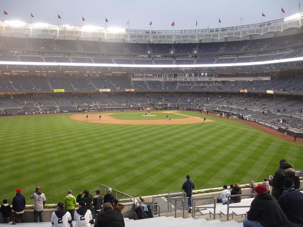 View from the Bleacher Seats at Yankee Stadium