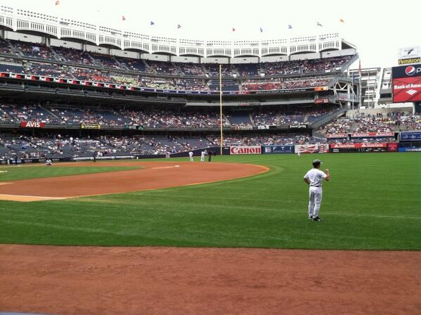 View from the Champions Suite Seats at Yankee Stadium