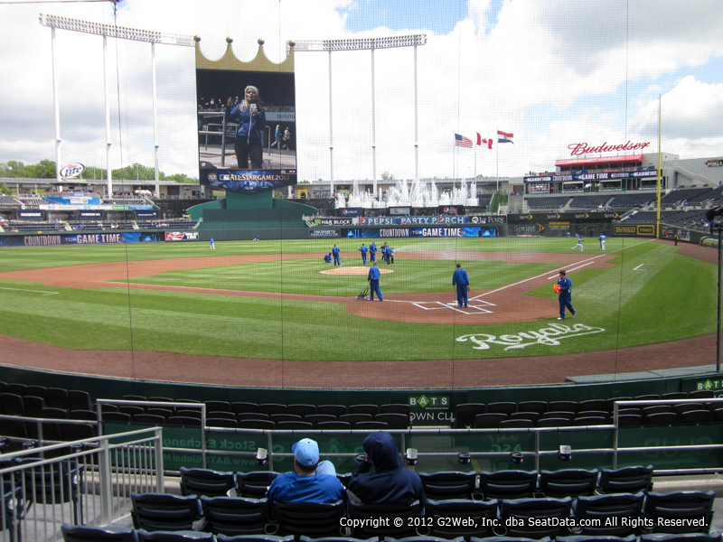 Seat view from section 126 at Kauffman Stadium, home of the Kansas City Royals