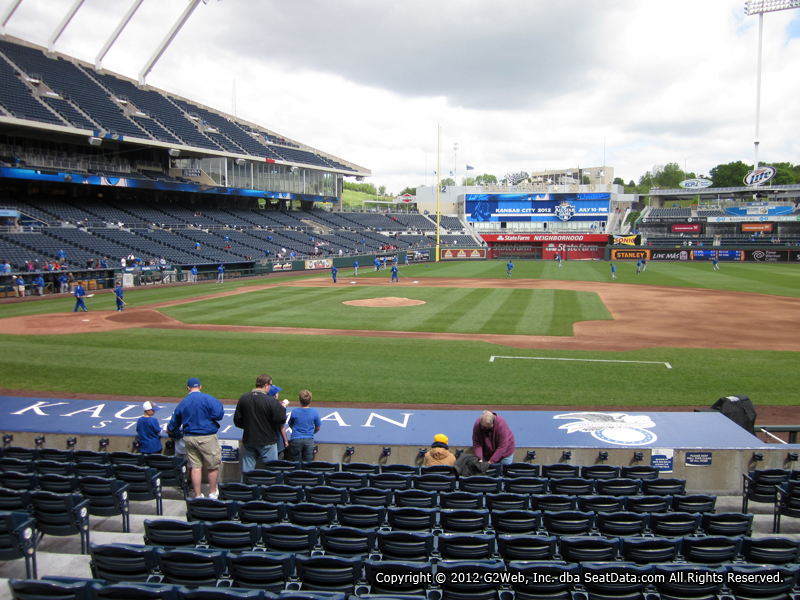 Seat view from section 135 at Kauffman Stadium, home of the Kansas City Royals
