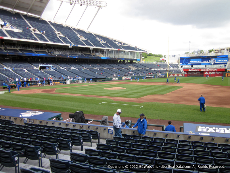 Seat view from section 137 at Kauffman Stadium, home of the Kansas City Royals