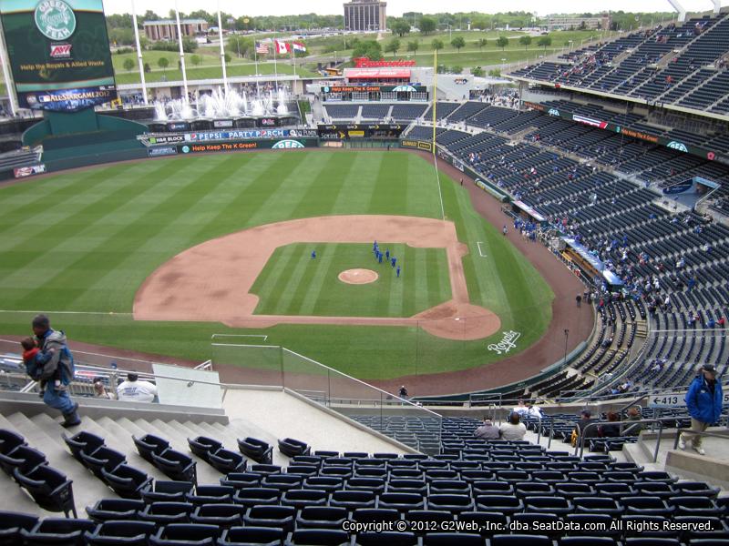 Seat View From Section 413 At Kauffman Stadium Kansas City Royals