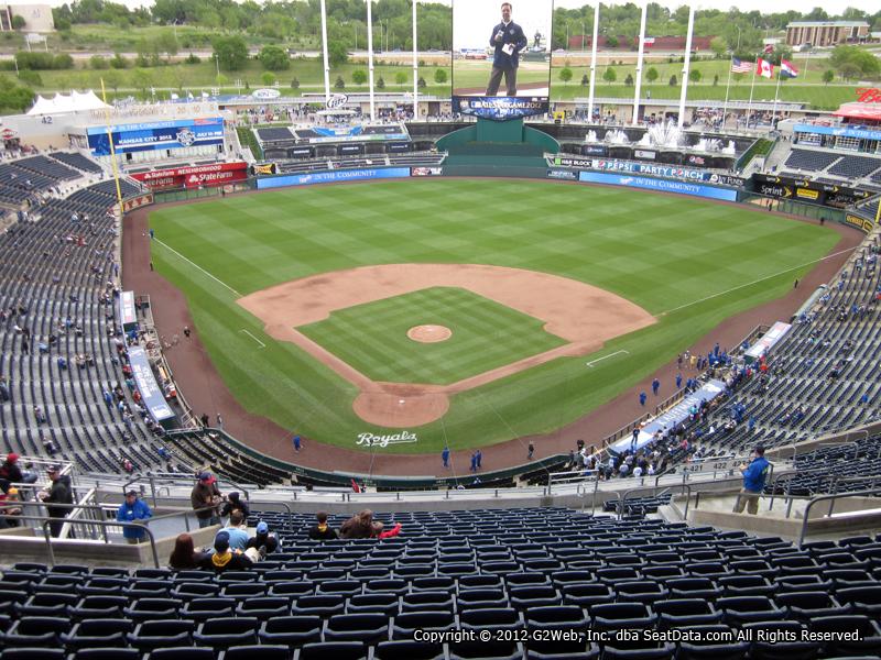 Seat View From Section 421 At Kauffman Stadium Kansas City Royals
