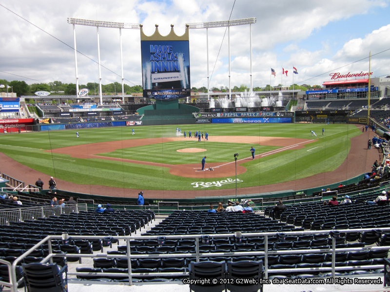 Seat view from Diamond Club Box C at Kauffman Stadium, home of the Kansas City Royals